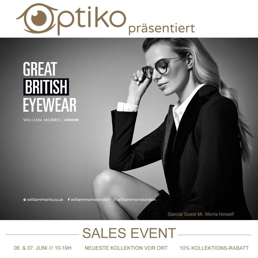 Optiko by Schütt - Brillenmode in Hamburg - William Morris Sales Event