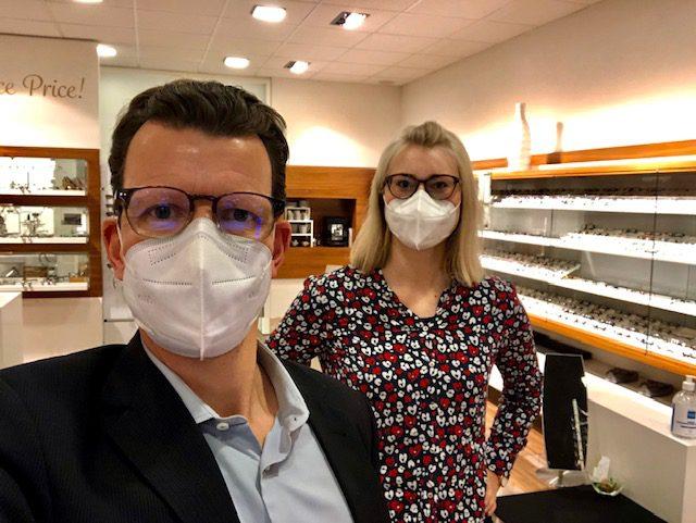 Optiko by Schütt - Brillenmode in Hamburg - Corona-Update // Wir sind und bleiben für Sie geöffnet!